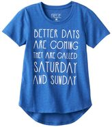 """Freeze Girls 7-16 Better Days Are Coming"""" Graphic Tee"""
