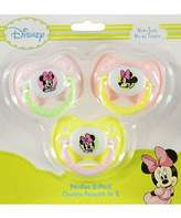 Disney Baby Minnie Mouse 3-pack Orthodontic Pacifiers.