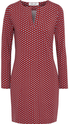 Diane von Furstenberg Reina Printed Stretch-jersey Mini Dress