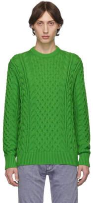Rag & Bone Green Aran Crewneck Sweater