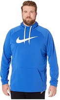 Nike Big Tall Dry Hoodie Pullover Swoosh (Game Royal/White) Men's Clothing