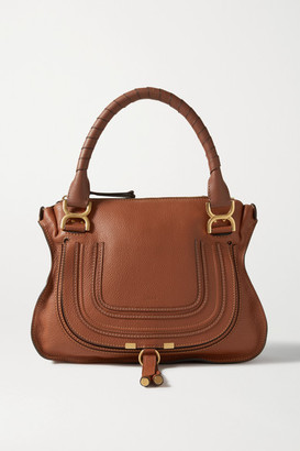 Chloé Marcie Medium Textured-leather Tote - Tan