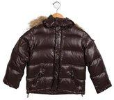 Bonpoint Boys' Fur-Trimmed Down Coat