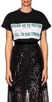 "Sacai Women's ""Stasis As To Vector All In Due Course"" Cotton T-Shirt"