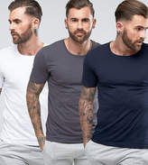 HUGO BOSS Boss By T-Shirts 3 Pack In Regular Fit