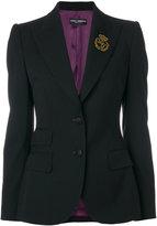 Dolce & Gabbana embroidered logo blazer