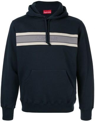 Supreme chest stripe logo hoodie SS19