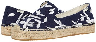 Soludos Shiloh Embroidered Espadrille (Midnight Blue) Women's Shoes