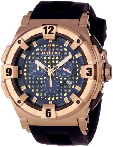 Of A Kind Orefici ' Evolution' Swiss Quartz Stainless Steel and Rubber Casual Watch