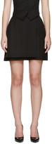Pallas Black Wool Diogene Wrap Shorts