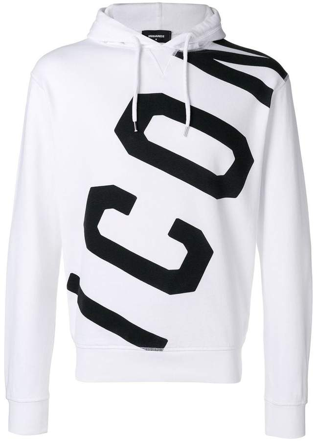 DSQUARED2 Icon logo printed hoodie