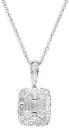 Effy 14K White Gold Diamond Pendant Necklace