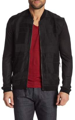 John Varvatos Zip Front Baseball Collar Jacket