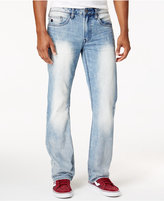 Buffalo David Bitton Men's Six Slim-Straight Bleached and Contrasted Jeans
