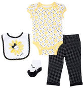 Chick Pea Four-Piece Daisy Pyjama Set
