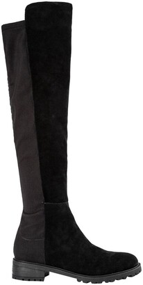 Tony Bianco Presto Black Suede/Blk Micro Stretch Long Boots