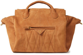 Jerome Dreyfuss Guillaume Quilted Nubuck Tote