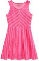Epic Threads Striped Zip-Front Dress, Big Girls (7-16), Only at Macy's