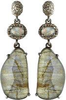 Bavna Labradorite & Diamond Statement Dangle Earrings
