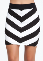 Thumbnail for your product : Bebe Mitered Stripe Skirt