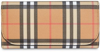Burberry vintage-check continental wallet