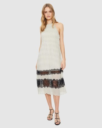 Cooper St Molly Lace Trim Pleated Dress