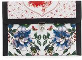 Alexander McQueen Floral-Print Leather Skull Clutch Bag, Multi