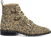 Office Amsterdam leopard-print stud-detail ankle boots
