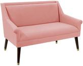 One Kings Lane Carson Settee - Petal Linen - frame, espresso; upholstery, petal; hardware, brass