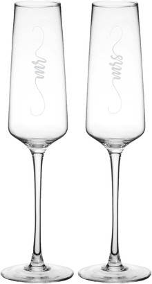 Cathy's Concepts Mr/Mrs Elegant Set of 2 Champagne Flutes