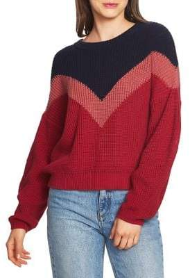1.STATE Chevron Crewneck Sweater