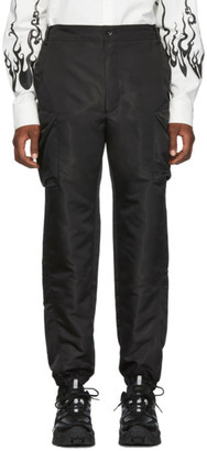 D.gnak By Kang.d Black Dimensional Out Pocket Cargo Pants