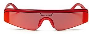 Balenciaga Women's Rectangular Shield Sunglasses, 99mm