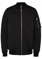 Rick Owens Drkshdw Black Cotton Shell Bomber Jacket