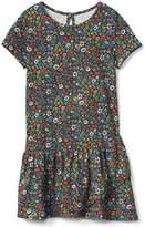 Gap Print asymmetrical hem dress