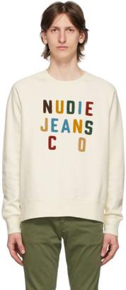 Nudie Jeans Off-White Melvin Sweatshirt