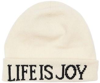 Alberta Ferretti Knit Intarsia Cashmere & Wool Beanie Hat
