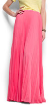 Pleated maxi-skirt