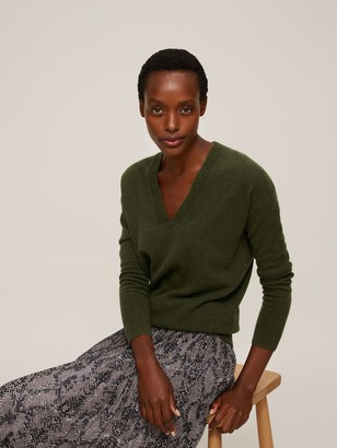 John Lewis & Partners Cashmere Relaxed V-Neck Sweater