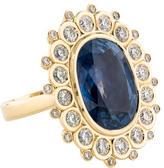 Ring 16.83ct Unheated Burmese Sapphire & Diamond