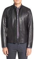 BOSS Men's 'Nevilo' Slim Fit Leather Jacket