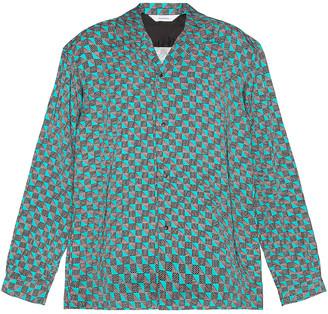 SASQUATCHfabrix. 50's Open Collar Shirt in Black & Green | FWRD
