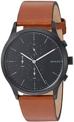 Skagen Men's Jorn Analog-Quartz Leather Watch