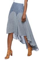 Hazel Navy High-Low Skirt