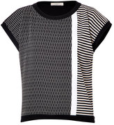 Bouchra Jarrar Mixed Knit Top
