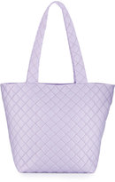 Neiman Marcus Sutton Quilted Nylon Tote Bag, Lilac