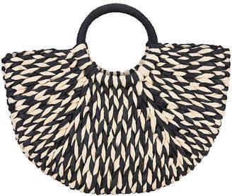 Wuwai WuWai Women's Handbags black - Black & White Ring Satchel