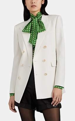 Saint Laurent Women's Virgin Wool Double-Breasted Blazer - White