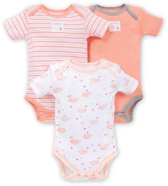 Burt's Bees Graceful Swans Organic Baby Bodysuits 3 Pack
