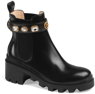 Gucci Trip Bootie with Jewels